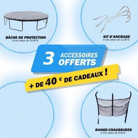 3 accessoires offert avec le trampoline 140 cm