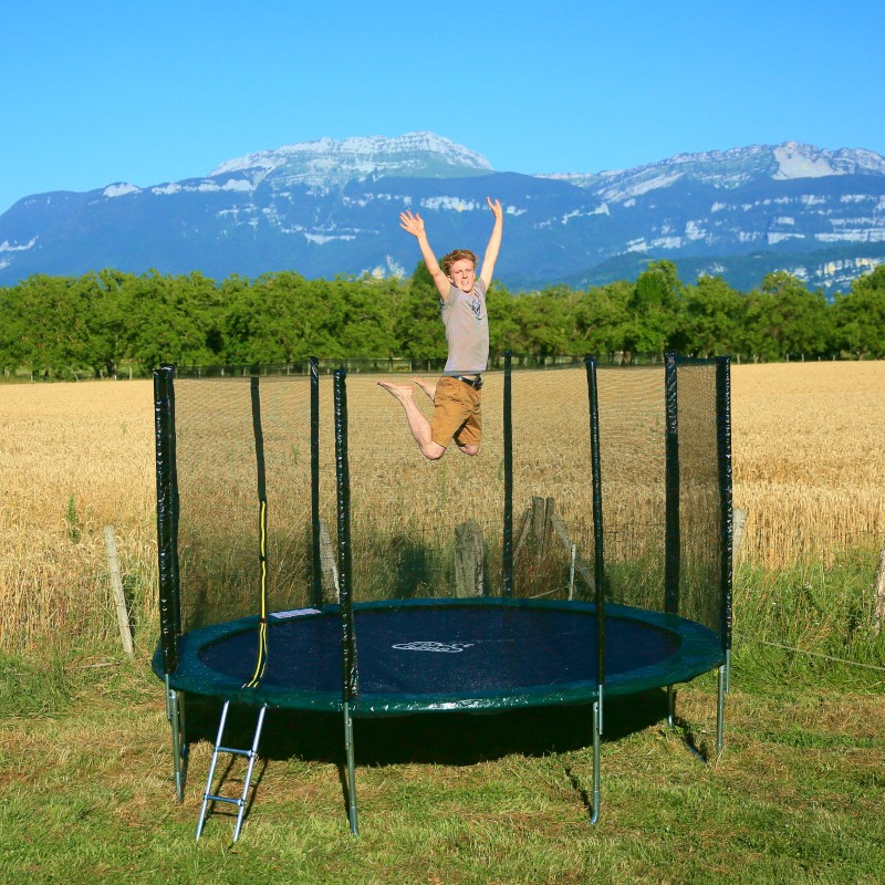 trampoline enfant 245cm accessoires offerts livraison gratuite. Black Bedroom Furniture Sets. Home Design Ideas